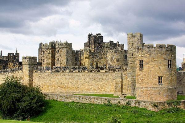Hogwarts nel set dell'antico castello, Northumberland