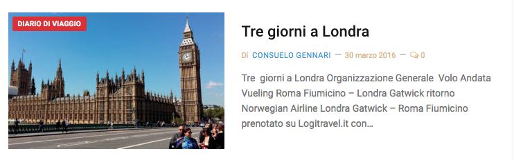 diario viaggio Londra