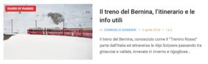 Diario di viaggio Bernina