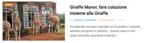 colazione con giraffe