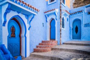 marocco città blu