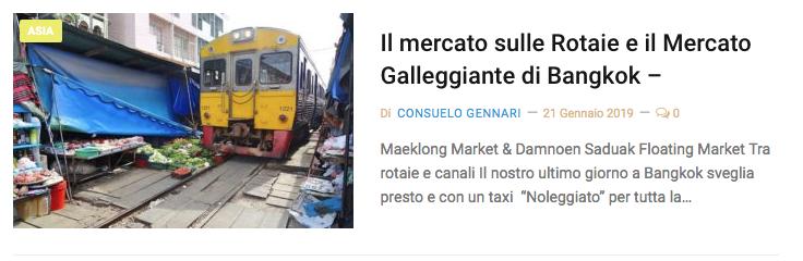Mercato treno e galleggiante