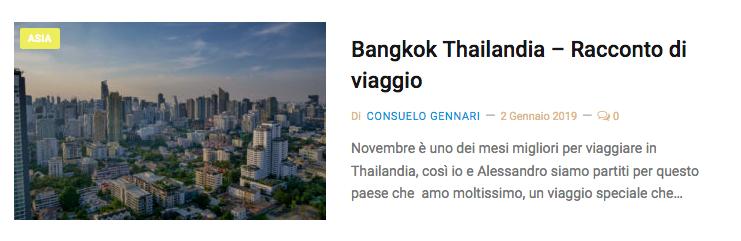Viaggio bangkok